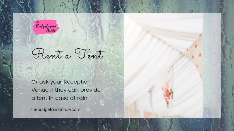 rain on wedding day tips
